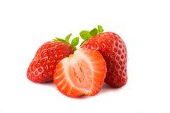 λευκό φραουλών ανασκόπη&sig στοκ φωτογραφίες με δικαίωμα ελεύθερης χρήσης