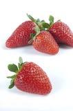 λευκό φραουλών ανασκόπη&sig Στοκ Φωτογραφία