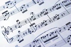 λευκό φύλλων μουσικής α&n Στοκ φωτογραφίες με δικαίωμα ελεύθερης χρήσης