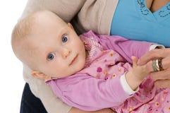 λευκό χαμόγελου 2 μωρών Στοκ Εικόνες