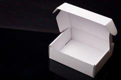 λευκό χαρτονιού κιβωτίων Στοκ Φωτογραφία