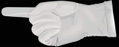 λευκό χεριών γαντιών Στοκ εικόνα με δικαίωμα ελεύθερης χρήσης