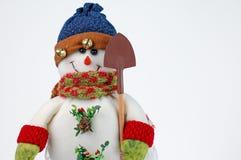 λευκό χιονανθρώπων Χριστ&om Στοκ φωτογραφία με δικαίωμα ελεύθερης χρήσης