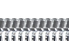 λευκό 2 Lotta mics Στοκ φωτογραφία με δικαίωμα ελεύθερης χρήσης