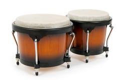 λευκό bongos ανασκόπησης Στοκ φωτογραφία με δικαίωμα ελεύθερης χρήσης