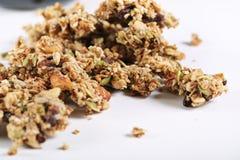 λευκό granola ανασκόπησης Στοκ Φωτογραφία