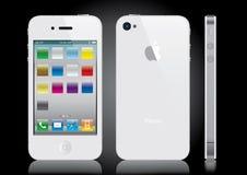 λευκό iphone Στοκ Φωτογραφίες