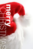 λευκό santa καπέλων ανασκόπησ& Στοκ Φωτογραφίες