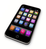 λευκό smartphone ανασκόπησης Στοκ φωτογραφίες με δικαίωμα ελεύθερης χρήσης