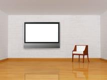 λευκό TV εδρών LCD διανυσματική απεικόνιση