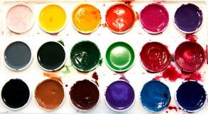 λευκό watercolor χρωμάτων ανασκόπη&si Στοκ Εικόνες