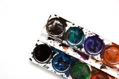 λευκό watercolor χρωμάτων ανασκόπη&si Στοκ φωτογραφία με δικαίωμα ελεύθερης χρήσης