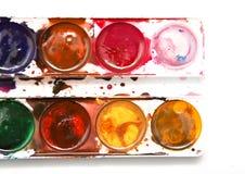 λευκό watercolor χρωμάτων ανασκόπη&si Στοκ εικόνα με δικαίωμα ελεύθερης χρήσης
