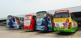 Λεωφορεία στο σταθμό σε Putrajaya, Μαλαισία Στοκ Φωτογραφίες