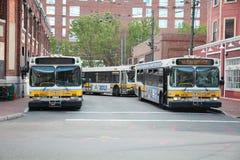 Λεωφορεία της Βοστώνης Στοκ εικόνες με δικαίωμα ελεύθερης χρήσης