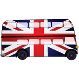 Λεωφορείο βρετανικών διπλό γεφυρών απεικόνιση αποθεμάτων