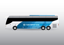 Λεωφορείο - διαφήμιση και εταιρικό σχέδιο ταυτότητας Στοκ Φωτογραφία