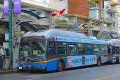 Λεωφορείο καροτσακιών του Βανκούβερ, Βανκούβερ, Π.Χ., Καναδάς Στοκ Φωτογραφία
