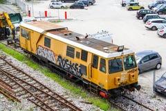 Λεωφορείο μηχανών ραγών Στοκ φωτογραφία με δικαίωμα ελεύθερης χρήσης