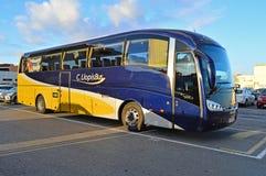 Λεωφορείο που περιμένει τους δρομείς μαραθωνίου Στοκ φωτογραφίες με δικαίωμα ελεύθερης χρήσης