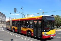 Λεωφορείο πόλεων της Βαρσοβίας στοκ φωτογραφία