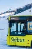 Λεωφορείο σκι ΑΤΟΜΩΝ στην περιοχή σκι schladming-Dachstein - Hauser Kaibling, σκι Amade, περιοχή Liezen, Styria, Αυστρία, στοκ φωτογραφίες με δικαίωμα ελεύθερης χρήσης