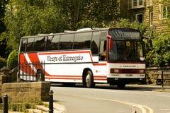 Λεωφορείο στάσιμο Harrogate Αγγλία Plaxton Στοκ φωτογραφία με δικαίωμα ελεύθερης χρήσης