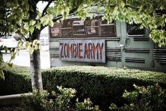 Λεωφορείο στρατού Zombie Στοκ Εικόνες