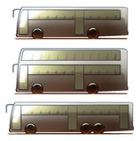 Λεωφορείο σώματος αυτοκινήτων Διανυσματική απεικόνιση