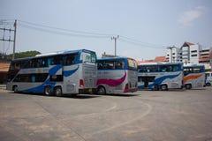 Λεωφορείο της διπλής διαδρομής Μπανγκόκ α γεφυρών κυβερνητικής επιχείρησης μεταφορών Στοκ Φωτογραφίες