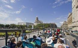 Λεωφορείο τουριστών στη Βαρκελώνη, Ισπανία Στοκ Εικόνα