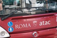 Λεωφορείο Atac στη Ρώμη, Ιταλία Στοκ Εικόνες