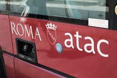 Λεωφορείο Atac στη Ρώμη, Ιταλία Στοκ φωτογραφίες με δικαίωμα ελεύθερης χρήσης