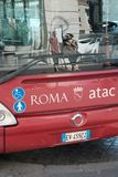 Λεωφορείο Atac στη Ρώμη, Ιταλία Στοκ εικόνες με δικαίωμα ελεύθερης χρήσης