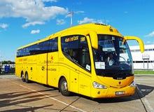 Λεωφορείο Scania Irizar της αντιπροσωπείας σπουδαστών Στοκ Φωτογραφία