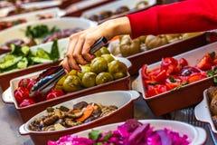 Λεωφόρος αγορών δικαστηρίων τροφίμων Στοκ φωτογραφία με δικαίωμα ελεύθερης χρήσης