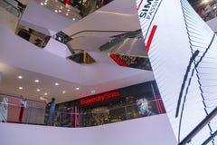 Λεωφόρος αγορών εμπορικών κέντρων στη Μπανγκόκ Στοκ Φωτογραφίες