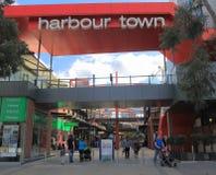 Λεωφόρος αγορών της Μελβούρνης Docklands Στοκ φωτογραφία με δικαίωμα ελεύθερης χρήσης