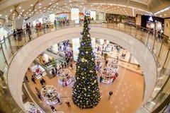 Λεωφόρος αγορών Χριστουγέννων στοκ εικόνες