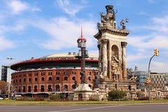 Λεωφόρος αγορών χώρων Las - Βαρκελώνη, Ισπανία Στοκ φωτογραφία με δικαίωμα ελεύθερης χρήσης