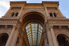Λεωφόρος αγορών Galleria Vittorio Emanuele Στοκ Εικόνες