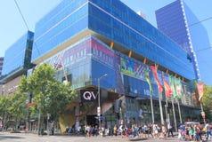 Λεωφόρος Αυστραλία αγορών της Μελβούρνης QV Στοκ Εικόνα