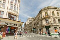 Λεωφόρος νίκης στο Βουκουρέστι Στοκ εικόνες με δικαίωμα ελεύθερης χρήσης