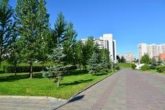 Λεωφόρος 16 στη γειτονιά Zelenograd στη Μόσχα, Ρωσία Στοκ Φωτογραφία