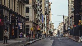 Λεωφόρος στο Μανχάταν κεντρικός Στοκ Φωτογραφίες