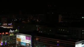 Λεωφόρος της Ρωσίας τη νύχτα απόθεμα βίντεο