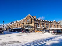 Λεωφόρος Banff το χειμώνα Στοκ Εικόνες