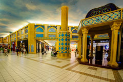 Λεωφόρος Battuta Ibn, Ντουμπάι, Ε.Α.Ε. Στοκ εικόνες με δικαίωμα ελεύθερης χρήσης