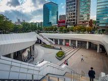 Λεωφόρος Coex την 1η Σεπτεμβρίου 2017 στην περιοχή Gangnam σε Seou, Κορέα Στοκ φωτογραφία με δικαίωμα ελεύθερης χρήσης