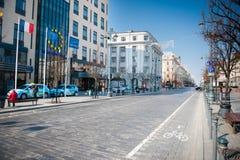 Λεωφόρος Gediminas σε Vilnius, Λιθουανία Στοκ φωτογραφία με δικαίωμα ελεύθερης χρήσης